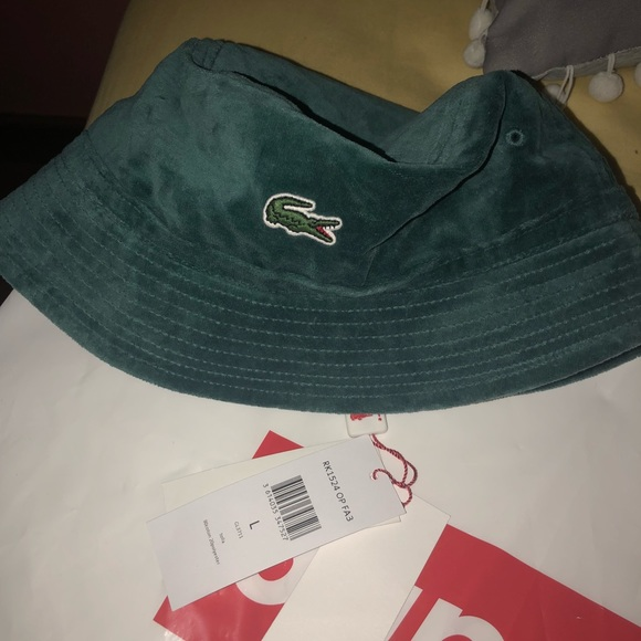 dc68adec3 Supreme Lacoste Velour Crusher Teal (With TAG) NWT